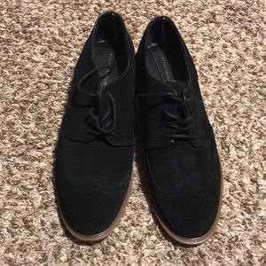 Tommy Hilfiger Black multi suede shoe